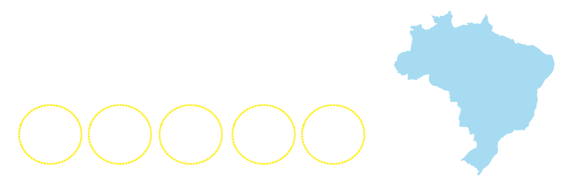 + de 70 polos  espalhados pelo Brasil - RJ, GO, ES, SC e MG