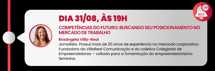 Dia 31/08, às 19h - Competências do Futuro: Buscando seu Posicionamento no Mercado de Trabalho